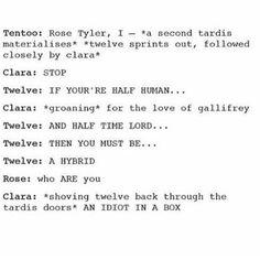 Doctor Who tentoo twelve Clara Rose hybrid