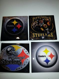 Check out this item in my Etsy shop https://www.etsy.com/listing/463265036/pittsburgh-steelers-coasters