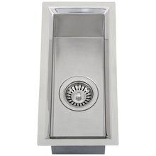 """View the Ticor S108 Stainless Steel 16 Gauge 8.5"""" Wide Undermount Kitchen Sink with Single Basin at FaucetDirect.com."""