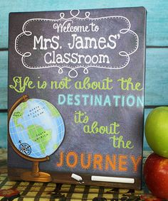 This Personalized Teacher World Globe Canvas is perfect! #zulilyfinds