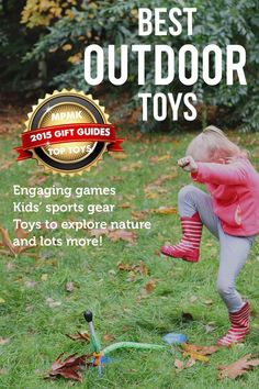 MPMK Toy Gift Guide: Best Outside Toys- Best Bikes, Best Scooters, Best sports toys, etc.Such a great list of toys to get kids outside and being active in good weather or bad! Love the detailed age recommendations. Best Outdoor Toys, Outdoor Toys For Kids, Outdoor Fun, Outside Toys For Kids, Outdoor Gear, Sports Toys, Kids Sports, Kindergarten, Parents