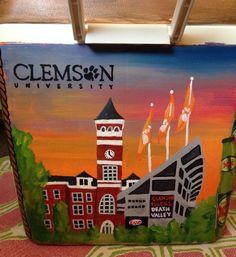 Clemson painted cooler