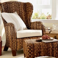 LOVE this seagrass chair - I've been eyeing it for a couple of years now.
