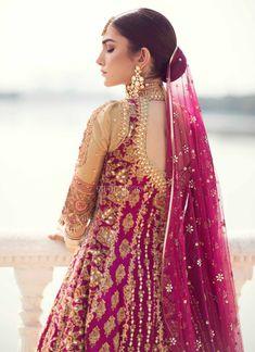 41 new Ideas bridal collection 2018 pakistani Pakistani Wedding Outfits, Indian Bridal Fashion, Pakistani Wedding Dresses, Pakistani Dress Design, Pakistani Couture, Wedding Attire, Wedding Themes, Bridal Anarkali Suits, Bridal Lehenga Choli