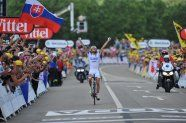 Stage 8 - Tour de France 2012 - Thibaut Pinot from FDJ wins - first FDJ Frenchman to win a stage for ?? A long time!