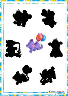 educational game find a shadow, whose shadow with Disney characters Winnie the Pooh 4 Year Old Activities, Montessori Activities, Infant Activities, Disney Games, Film Disney, Hidden Pictures, Folder Games, Disney Winnie The Pooh, Learning Through Play