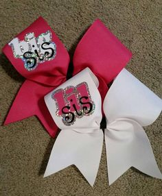 Cheer bow set big sis lil sis choice of by CurlyNoodleCreations