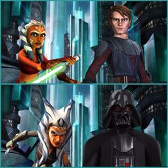 Master and apprentice. Before and after. Anakin and Ahsoka.