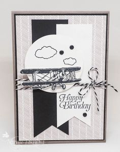 Masculine birthday card using Stampin Up Sky is the Limit By Narelle for Just Add Ink blog hop 2016 Saleabration & Occasions Catalogue
