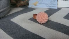 Dahlia Flower Resin Ring on a Copper Plated by LovelyBooty on Etsy, $6.00