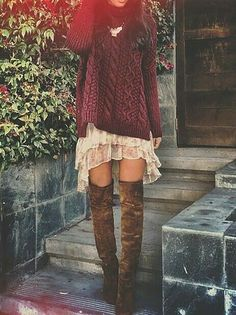 20 Stylish Ways To Wear Over The Knee Boots This Year   Postris