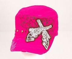 Double Gun Hat - Hot Pink  $16.00