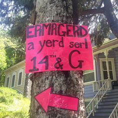 Photo by amy_estes- best yard sale sign!