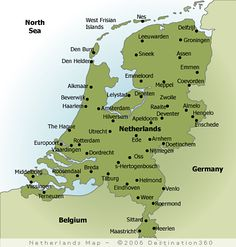 map of netherlands with cities google search