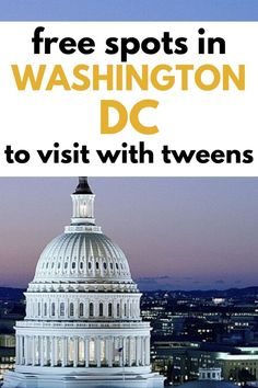Heading to Washington DC for spring break? Take tweens and teens to these 20 FREE spots to visit. Dc Travel, Family Travel, Free Things To Do, How To Memorize Things, Mid Atlantic States, Road Trip With Kids, Travel Advice, Spring Break, Tween