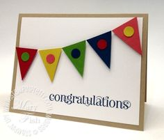 Perfection & simplicity by Mary Fish (Stampin up petite pennants builder punch card using in colors).