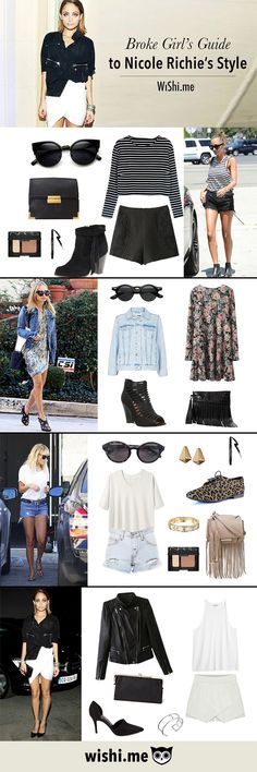 We love Nicole Richie's vintage style and are constantly trying to get it right! It can be hard being a broke girl trying to live the chic life. Get all the looks here!