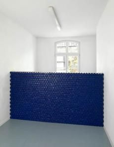 Thomas Rentmeister untitled, 2013 packets of chocolate biscuits (Prinzenrollen) approx. 147 x 250 x 25 cm