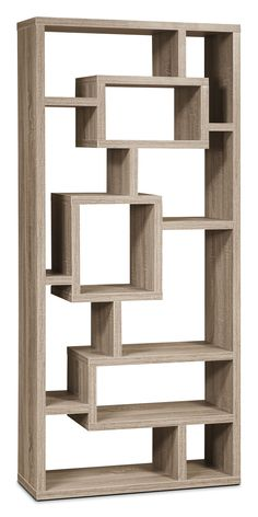 Give your favourite items a stylish home with this unique display cabinet and its incredible showcasing possibilities. Home Office. Wall Shelf Decor, Wall Shelves Design, Bookshelf Design, Wall Design, Unique Wall Shelves, Living Room Partition Design, Room Partition Designs, Home Decor Bedroom, Room Decor