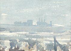 Arthur Ernest Streeton (1867-1943) Australia: view to the Chelsea Power Station
