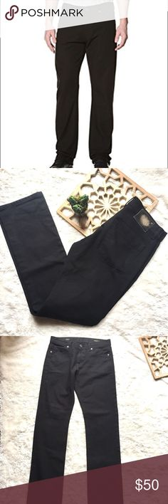 """Men's Vince DL 1961 Phantom Black Jeans 30 Brand: Vince Details: 360 degree comfort fit. Straight leg. Phantom Black Cotton/poly Size: 30 Approx measurements; Waist laying flat: 16"""" Rise: 10"""" Inseam: 33.5"""" Gently pre-owned and ready to wear.  Thanks for looking! Vince Jeans Straight"""