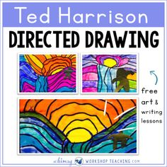 Ted Harrison Art and More! - Whimsy Workshop Teaching Ted Harrison directed drawing including a teacher read aloud script to guide the discussion School Art Projects, Art School, Primary School Art, Spring Art Projects, History Projects, Artists For Kids, Art For Kids, Art Children, Landscape Art Lessons