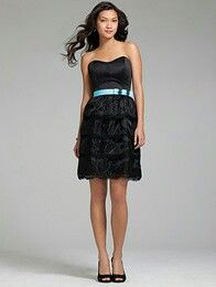 Black strapless bridesmaid dreds
