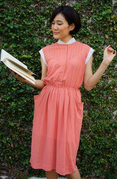 Vintage Dress, 1980s Dress, Vintage Japanese Dress, Vintage Womens Dress, Summer Dress, Boho Dress, 80s Dress, Pleated Dress, Grey Dress by hisandhervintage on Etsy