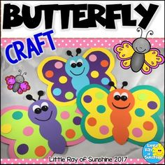 Spring would not be complete without some beautiful butterflies! This adorable Butterfly Craft will be the perfect addition to your room décor for this time of year! You can copy the pages onto colored p Creative Crafts, Fun Crafts, Crafts For Kids, Arts And Crafts, Paper Crafts, Stick Crafts, Decor Crafts, Wine Bottle Crafts, Mason Jar Crafts
