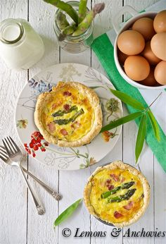 Bacon, Asparagus & Cheddar Quiche from @Jean | Lemons and Anchovies