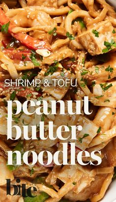 You know when you come across a sauce that you could stick a straw in and drink? Well, this is it. Sweet and salty, this Peanut and Hoisin Sauce coats udon noodles, shrimp, tofu and veggies, making this a winning dish. #easyrecipe #healthyeats #asianrecipe Spring Food, Fall Food, Summer Food, Winter Food, Asian Cooking, Healthy Cooking, Healthy Eats, Healthy Recipes, Peanut Butter Noodles Recipe