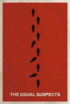 """The Usual Suspects"" by Matt Owen, Little Rock // Minimalist Film Poster for the movie 'The Usual Suspects' // Imagekind.com -- Buy stunning fine art prints, framed prints and canvas prints directly from independent working artists and photographers."