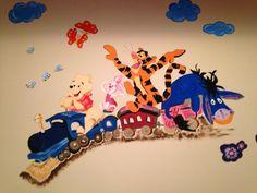 Wandbild Winnie pooh und seine Freunde handgemalt Desserts, Food, Friends, Wall Prints, Tailgate Desserts, Deserts, Essen, Postres, Meals