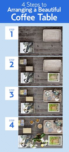 A step-by-step guide to turning your coffee table into an artfully arranged space. #countryliving #livingrooms