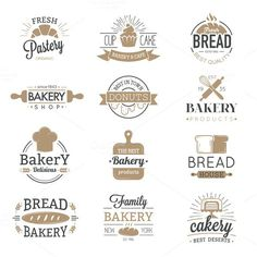 Bakery badges and logo icons vector. Premium Icons. $5.00