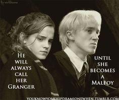 Draco Malfoy & Hermione Granger, #dramione