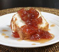 Pear preserves are spiced with chopped ginger and cinnamon sticks. Delicious spiced pear preserves, use to top ice cream or angel cake.