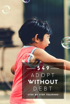 How to raise money for your adoption: budget and save, submit winning adoption grants, and fundraise. The Fund Your Adoption Bootcamp provides 12 training videos, grant and fundraising templates, and coaching to help you adopt debt free. Get started for only $49!