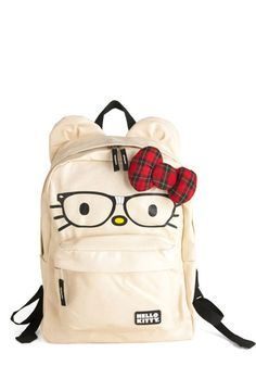 13. The perfect ModCLoth carryall #modcloth and #makeitwork (Cat's Out of the Backpack - its easier to carry books around in a back pack and some may say this one is purrrfect!)