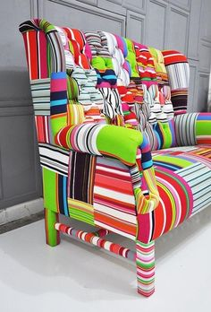 Colorful Upholstery #interior #roomdesign Isn't it fabulous?