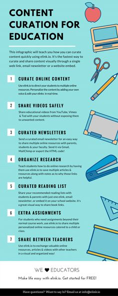 Content Curation for Education Infographic - http://elearninginfographics.com/content-curation-education/