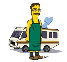 Walter White - Breaking Bad + The Simpsons Breaking Bad Arte, Breaking Bad Season 1, Serie Breaking Bad, Walter White, Netflix, The Simpsons, Simpsons Funny, Character Drawing, Character Design