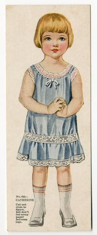 78.14180: Catherine | paper doll | Paper Dolls | Dolls | National Museum of Play Online Collections | The Strong