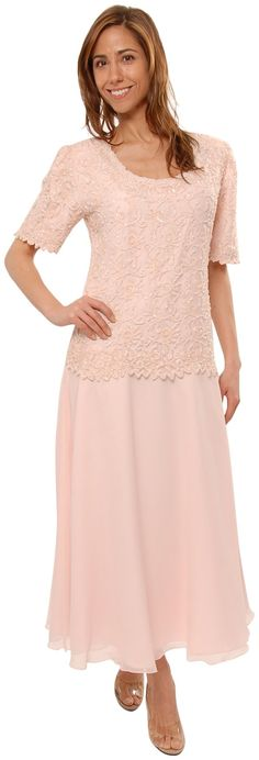 Mother of the Bride Great Tea Length Dress in Pink | Amazon.com