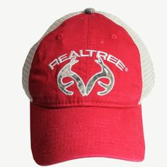 0302ce7b07977 Realtree Red Washed Twill Mesh Back Cap  15.99