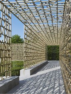 28 Pergola Design Ideas - The Architects Diary Architecture Details, Landscape Architecture, Landscape Design, Garden Design, Canopy Architecture, Donor Wall, Berlin Design, Gardens Of The World, Environmental Graphic Design
