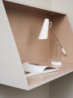Plywood wall desk DIY love the two colours