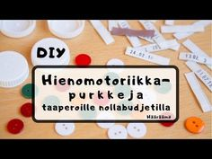 Tee lapselle sorminäppäryyttä sekä silmän ja käden yhteistyötä harjoittavia purkkeja kierrätysmateriaaleista. Margarita, Education, Crafts, Day Care, Manualidades, Margaritas, Handmade Crafts, Onderwijs, Craft
