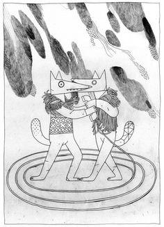 Textos ilustrados by Jon Juarez, via Behance