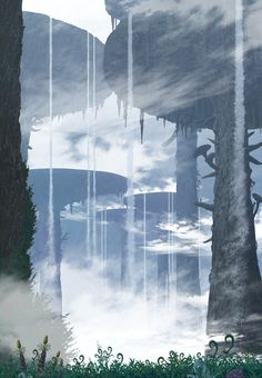 Beautiful Drawings, Beautiful Pictures, Spirited Away Poster, Wallpaper Telephone, Abyss Anime, Dungeons And Dragons Homebrew, Animation Background, Environmental Art, Fantasy Landscape